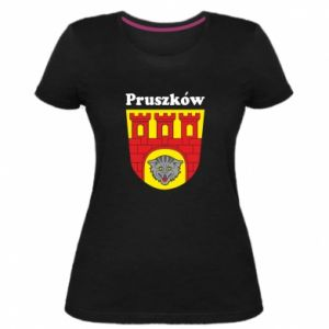 Damska premium koszulka Pruszków. Herb.
