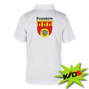 Koszulka polo dziecięca Pruszków. Herb.