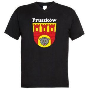 Męska koszulka V-neck Pruszków. Herb.