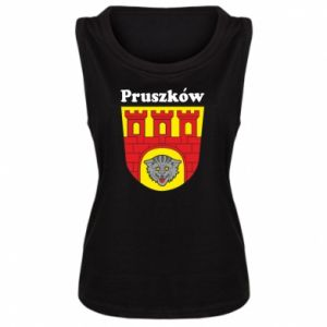 Damska koszulka bez rękawów Pruszków. Herb.