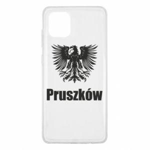 Męska bluza z kapturem na zamek Napis: Moje miasto Pruszków - PrintSalon