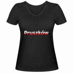 Damska koszulka V-neck Pruszków