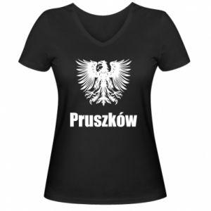 Damska koszulka V-neck Pruszków - PrintSalon