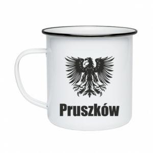Enameled mug Pruszkow