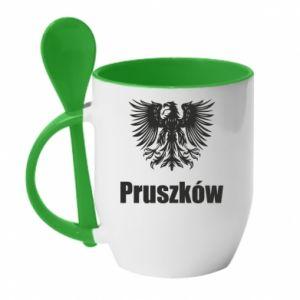 Kubek z ceramiczną łyżeczką Pruszków - PrintSalon