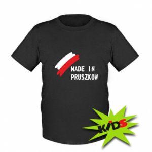 """Dziecięcy T-shirt """"Made in Pruszkow"""""""