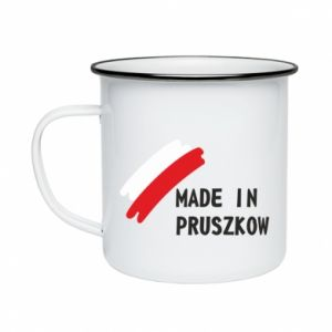 "Enameled mug ""Made in Pruszkow"""