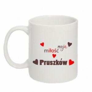 Kubek 330ml Napis - Moja miłość to Pruszków