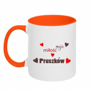 Two-toned mug Inscription - My love is Pruszkow