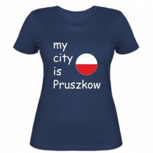 Women's t-shirt My city is Pruszkow