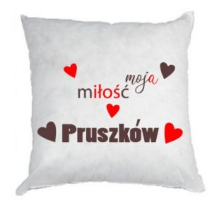 Pillow Inscription - My love is Pruszkow