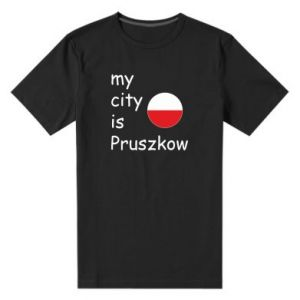 Męska premium koszulka My city is Pruszkow