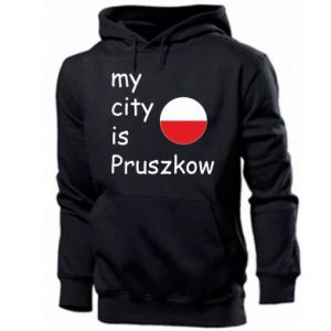 Męska bluza z kapturem My city is Pruszkow