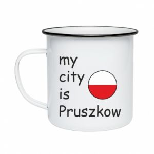Kubek emaliowane My city is Pruszkow