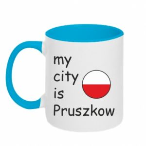 Kubek dwukolorowy My city is Pruszkow