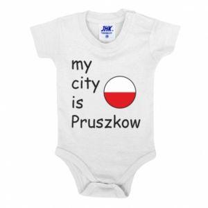 Baby bodysuit My city is Pruszkow