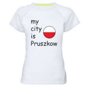 Women's sports t-shirt My city is Pruszkow