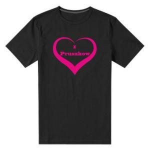 Męska premium koszulka I love Pruszkow - PrintSalon