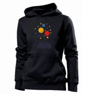 Women's hoodies Space in the head