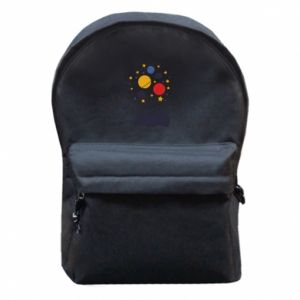 Backpack with front pocket Space in the head