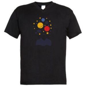 Męska koszulka V-neck Przestrzeń w głowie