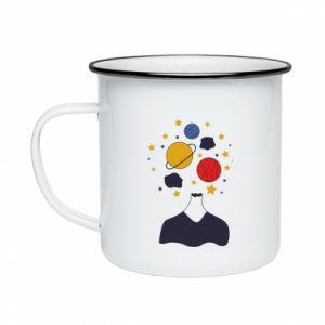 Enameled mug Space in the head