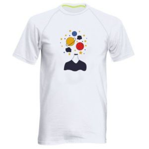 Men's sports t-shirt Space in the head