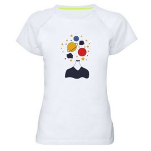 Women's sports t-shirt Space in the head