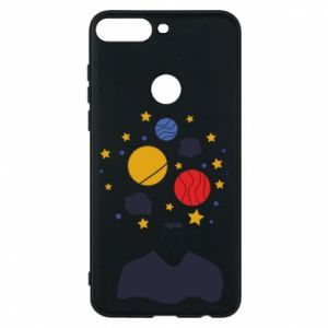 Phone case for Huawei Y7 Prime 2018 Space in the head