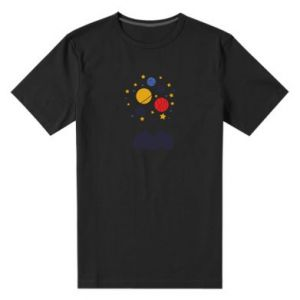 Męska premium koszulka Przestrzeń w głowie