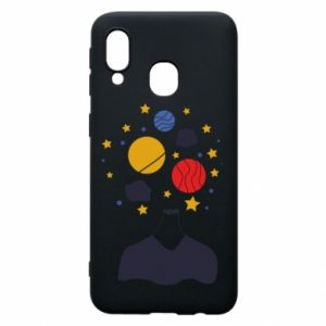 Phone case for Samsung A40 Space in the head