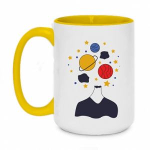 Two-toned mug 450ml Space in the head
