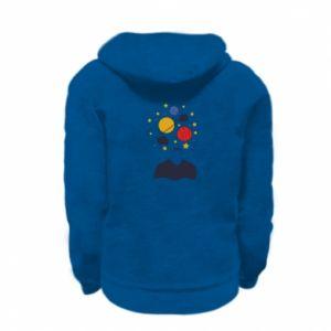 Kid's zipped hoodie % print% Space in the head
