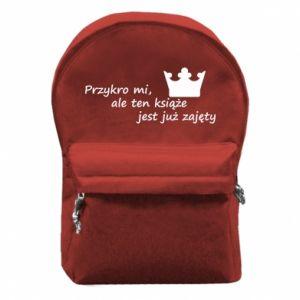 Plecak z przednią kieszenią Przykro mi