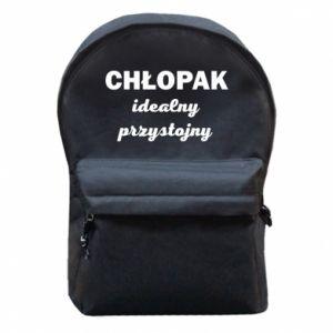 Plecak z przednią kieszenią Przystojny chłopak