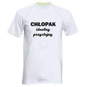 Męska koszulka sportowa Przystojny chłopak