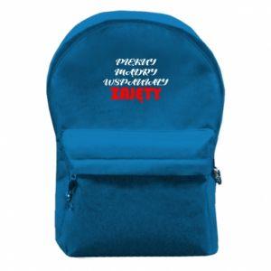 Plecak z przednią kieszenią Przystojny, mądry