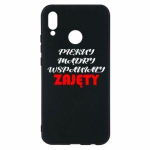Etui na Huawei P20 Lite Przystojny, mądry