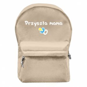 Backpack with front pocket Future mommy for a boy