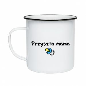 Enameled mug Future mommy for a boy