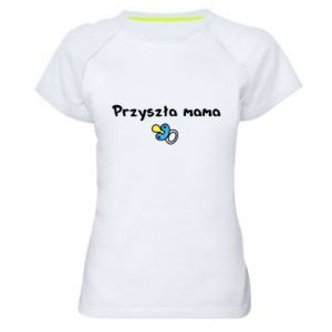 Women's sports t-shirt Future mommy for a boy