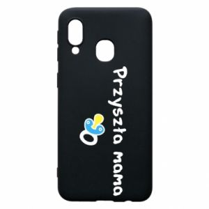 Phone case for Samsung A40 Future mommy for a boy