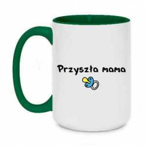 Two-toned mug 450ml Future mommy for a boy