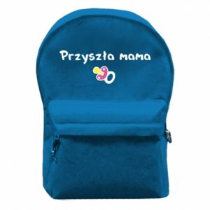 Backpack with front pocket Future mom for a girl