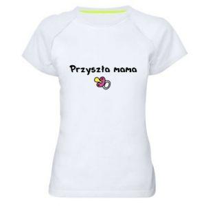 Damska koszulka sportowa Przyszła mama dla dziewczyny