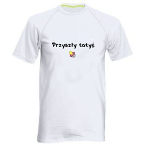 Men's sports t-shirt Future daddy for a girl