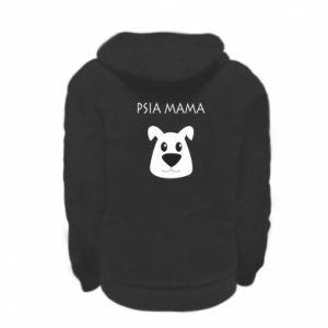 Kid's zipped hoodie % print% Dogs mother