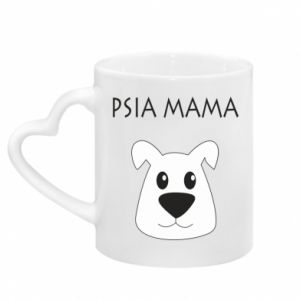 Mug with heart shaped handle Dogs mother