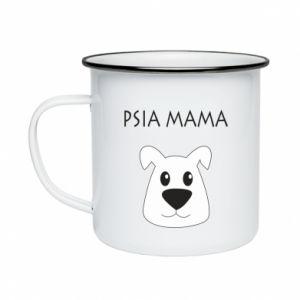 Enameled mug Dogs mother