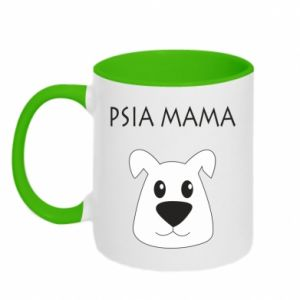 Two-toned mug Dogs mother